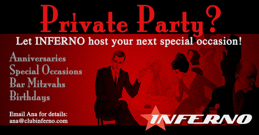 Book Your Private Party at INFERNO